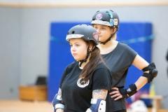 Zweiter Programm-Punkt: Training für Skater*innen mit und ohne MST (Foto: Thorsten Lasrich)